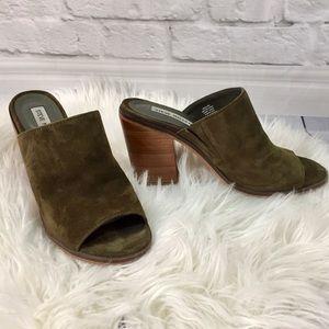Steve Madden Krizia Suede Mule Sandal Heel